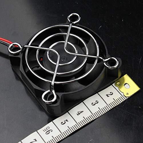 FidgetFidget 100pcs Metal Steel Protect Finger Guard Grill for 50mm 5cm Fan Silver by FidgetFidget (Image #4)