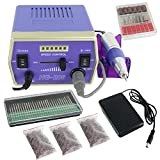 30000RMP Electric Nail File Drill Machine Manicure Predicure Complete Kit Acrylics Nail Salon Equipment,Purple …