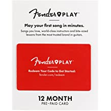 Fender 6212700001 Play – Instructional, Learn to Play Guitar Lesson Platform for Beginners – 12 Month Prepaid Gift Card