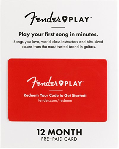 Fender Play - Instructional, Learn to Play Guitar Lesson Platform for Beginners - 12 Month Prepaid Gift Card