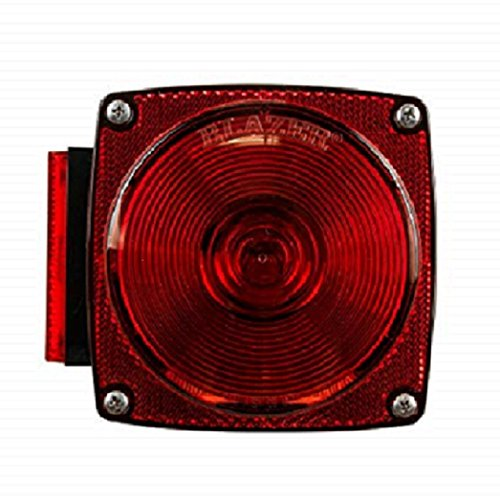 Blazer B83 7-Function Red Square Combination Stop/Tail/Turn Light - Pack of 1