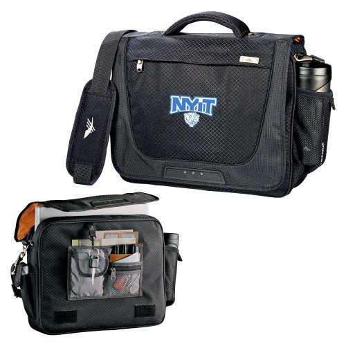 NYIT High Sierra Black Upload Business Compu Case 'Primary Mark' by CollegeFanGear