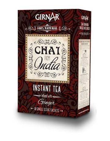 GIRNAR - CHAI DE LA INDIA CON JENGIBRE 100% NATURAL, SIN LECHE - 100GR