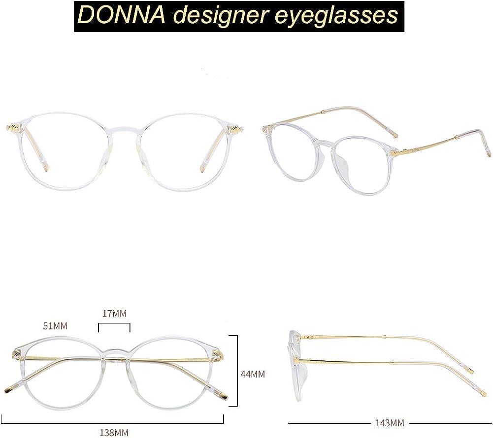 DONNA Round Lens Integrated Nose Pad Comfortable Eyeglasses Design Anti-blue Light eyewear frame DN13