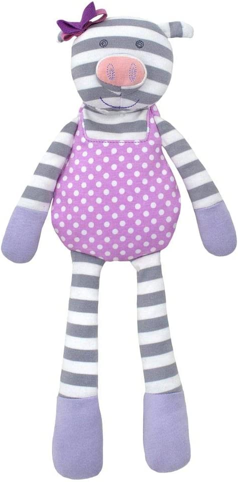 Apple Park Organic Farm Buddies - Penny Pig Plush Baby Toy for Newborns, Infants, Toddlers - Hypoallergenic, 100% Organic Cotton
