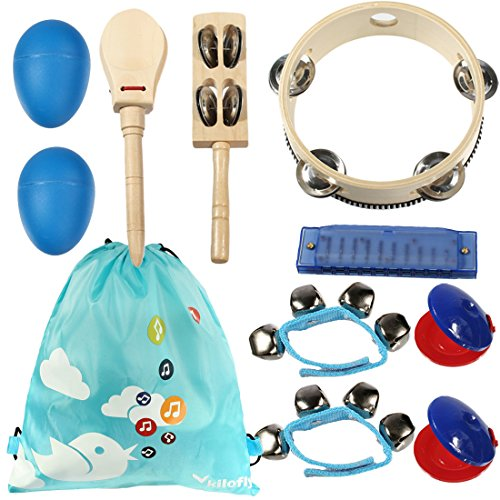 kilofly-kids-musical-instruments-band-rhythm-toys-value-pack-set-of-10-blue