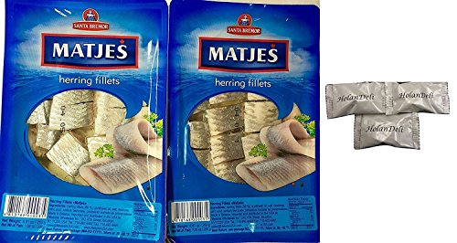 ((Pack of 2)  Imported Matjes Herring Fillets 8.8oz/250 g. Includes Exclusive HolanDeli Chocolate Mints.)