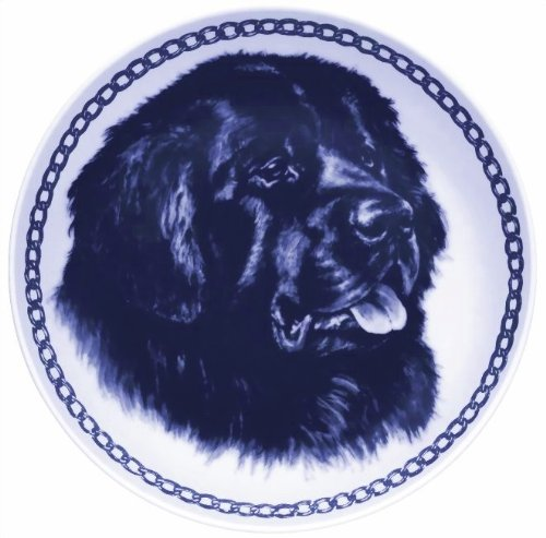 Newfoundland Lekven Design Dog Plate 19.5 cm  7.61 inches Made in Denmark NEW with certificate of origin PLATE  7502