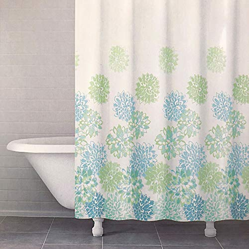 "Arkwright Designer Fabric Shower Curtain| 100% Cotton, Washable, Mold and Mildew Resistant| 72""x 72""