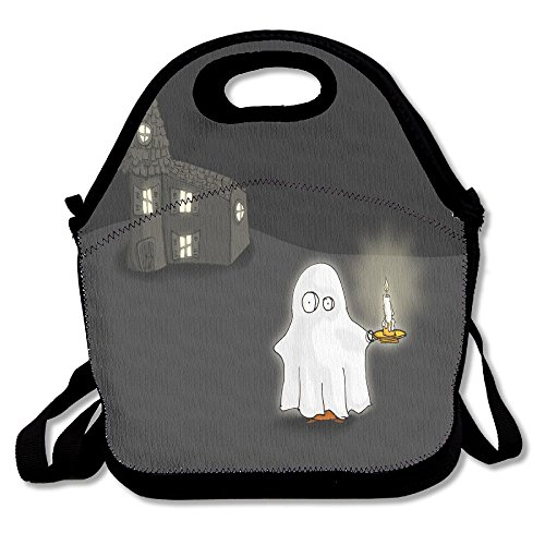 Cartoon Fred Ghost Candle Portable Lunch Box Bag Insulated Waterproof Travel Storage Handbag For Women, Adults, - Cartoon With Shark Sunglasses