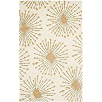 Safavieh Bella Collection BEL123A Handmade Beige and Gold Premium Wool Area Rug (5 x 8)