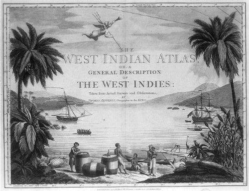 Photo: West Indies, 1775, Natives with British sailor on beach . Size: 8x10 (approximately)