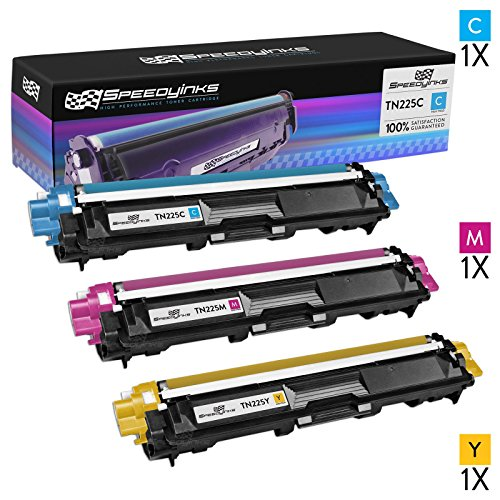 Speedy Inks - Compatible with Brother Set of 3 TN225 color toner cartridges TN225C, TN225M, TN225Y for Brother HL-3140CW, HL-3170CDW, MFC-9130CW, MFC-9330CDW, MFC-9340CDW.