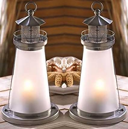 Amazon 5 frosted white lighthouse theme candle lantern event 5 frosted white lighthouse theme candle lantern event wedding centerpieces decorations junglespirit Gallery