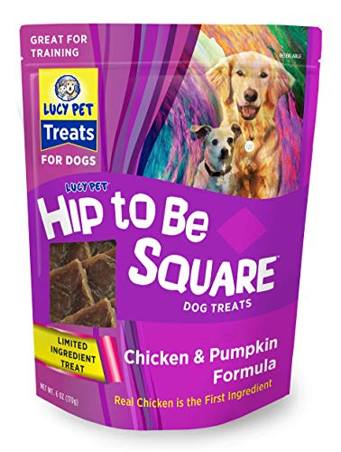 (Lucy Pet Hip To Be Square Chicken And Pumpkin Dog Treats 6Oz)