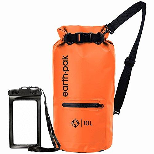 earth-pak-waterproof-dry-bag-with-front-zippered-pocket-keeps-gear-dry-for-kayaking-beach-rafting-bo