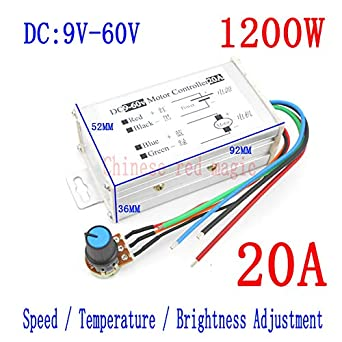 Amazon com: Laliva Tool - DC Motor Controller 1200W 20A