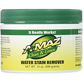 AMAZ WATER STAIN REMOVER 14 OZ with scrubber