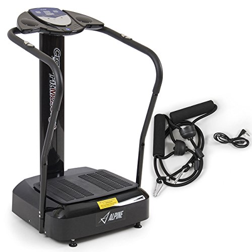 Akonza 2000W Crazy Fit Whole Body Vibration Plate Machine Massager Trainer Fitness BMI, Black/Silver