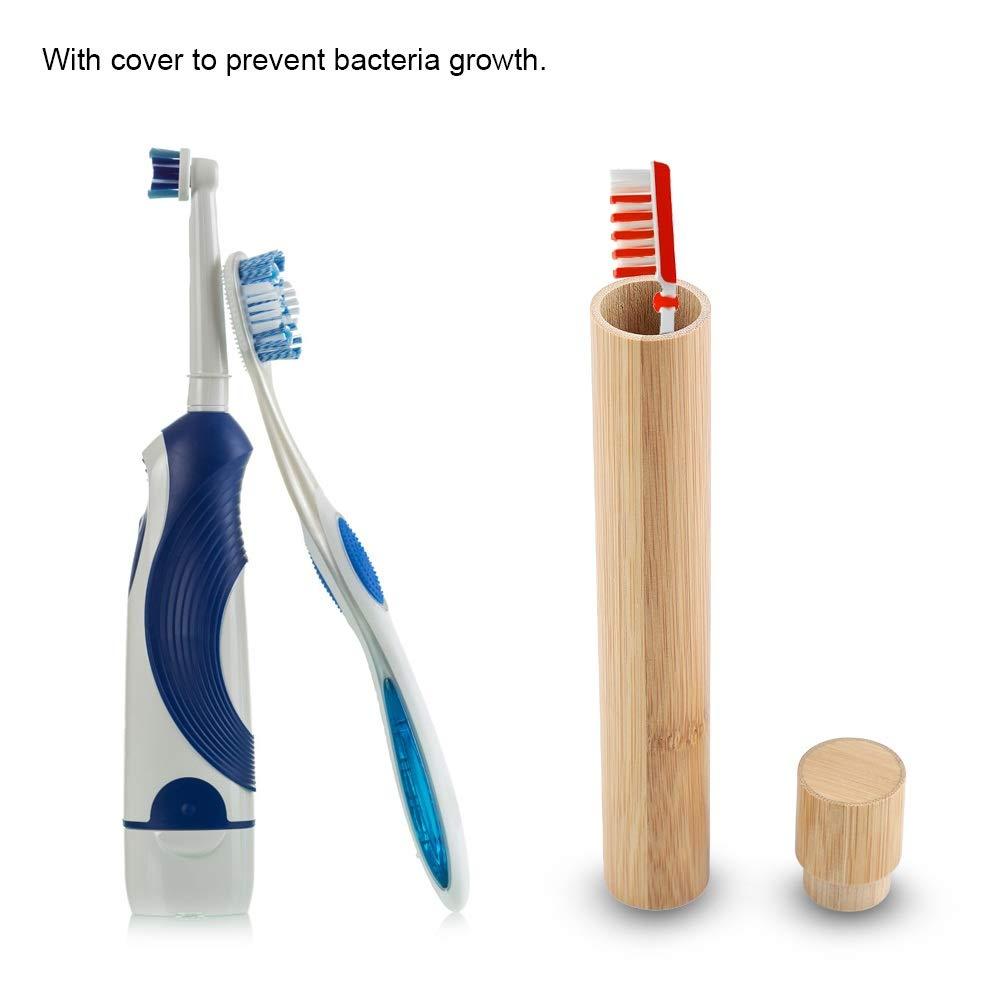 Reise Zahnbürsten Halter Bambus Umweltfreundlich Tragbar Oral Etui Schachtel