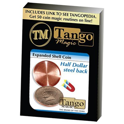 Expanded Shell Coin - Half Dollar (Steel Back) by Tango Magic - Trick