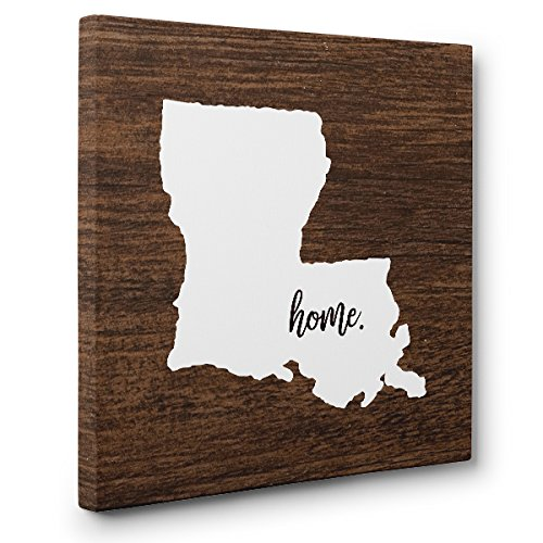 Louisiana Home CANVAS Wall Art Home Décor by Paper Blast