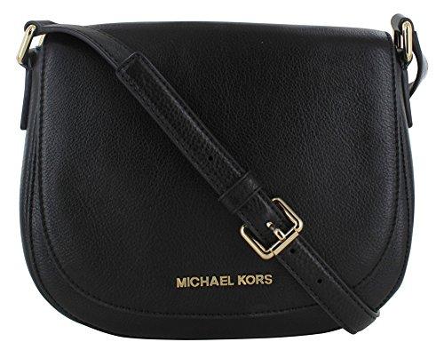 Amazon.com: Michael Kors Bedford Women\u0027s Crossbody Bag Purse Leather Black:  Shoes