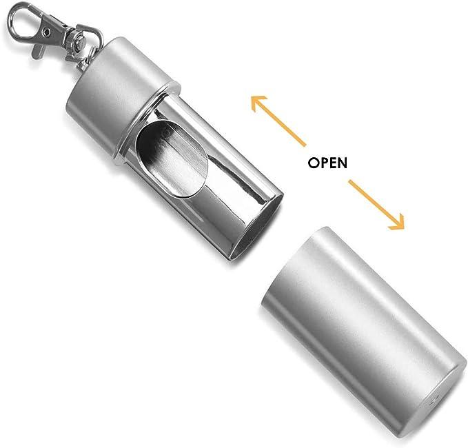 Globaldream Posacenere da viaggio Adatto a tutte le attivit/à allaperto 2 pezzi Posacenere portatile Posacenere da fumo Posacenere tascabile Posacenere con portachiavi Facile da trasportare