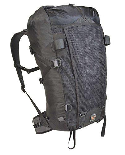 VenTerra Men's Nomad 40 Lightweight Backpack, Black, Large