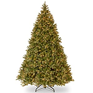 National Tree (PEDD1-312-100) Feel-Real Downswept Douglas Hinged Tree with 1000 Clear Lights 5