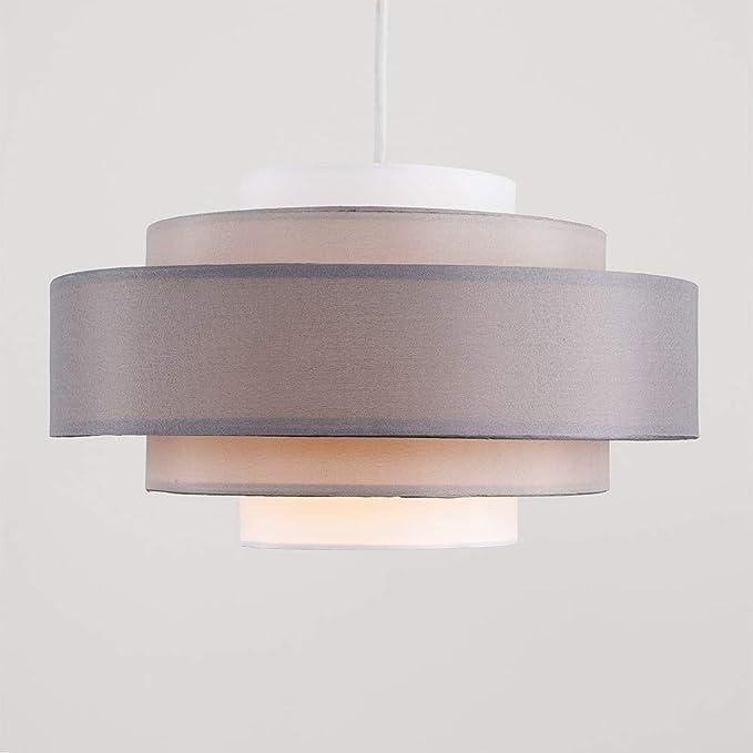 MiniSun - Pantalla para lámpara de techo moderna Hampshire - Con 5 niveles y tonos de gris