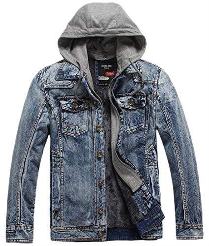 Denim Simple À Kangqi Hommes Capuchon Grey Vêtements De Capuche Pour Veste En FqcqOAwHUW