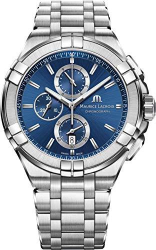 Maurice Lacroix Men's Aikon Swiss-Quartz Watch with Stainless-Steel Strap, Silver (Model: AI1018-SS002-430-1) - Maurice Lacroix Quartz