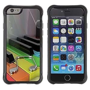 Be-Star único patrón Impacto Shock - Absorción y Anti-Arañazos Funda Carcasa Case Bumper Para Apple iPhone 6(4.7 inches) ( Music Color Piano )