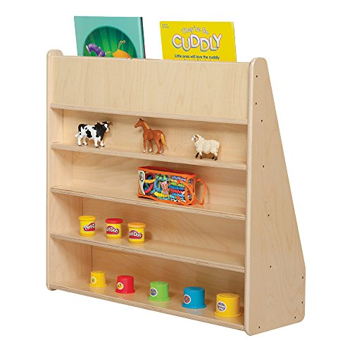 """Sprogs SPG-355F Wooden Book Shelf/Display, 29"""" Height, 10 1/2"""""""" Wide, 30"""" Length, Natural"""