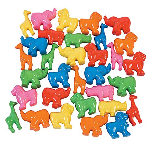 - Fun Express - Zoo Animal Pony Beads - Craft Supplies - Kids Beading - Plastic Beads - 200 Pieces