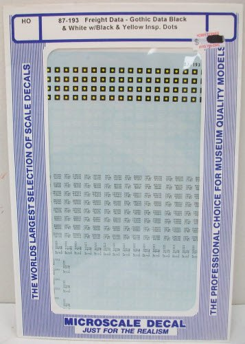 Microscale 87-193 HO Freight Data Decals