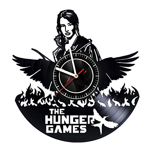 ArtoriDesign18 The Hunger Games - Wall Clock Made of Vinyl Record - Handmade Original Design - Great Gifts idea for Birthday, Wedding, Anniversary, Women, Men, Friends, Girlfriend Boyfriend and Teens for $<!--$32.75-->