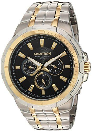 Multifunction Watch Dial (Armitron Men's 20/5144BKTT Multi-Function Dial Two-Tone Bracelet Watch)