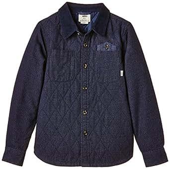 Vans B HERONDO Boys, Camisa para Niños, Negro (Black Iris) Large