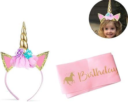 Des Enfants Couvre-chef Bébé Chapeau D/'anniversaire Glitter Hairband