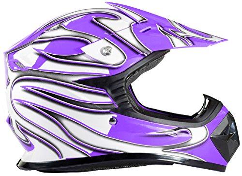 Youth Dirt Bike Helmet Off Road ATV Motorcycle MX Kids Motocross Purple - Small
