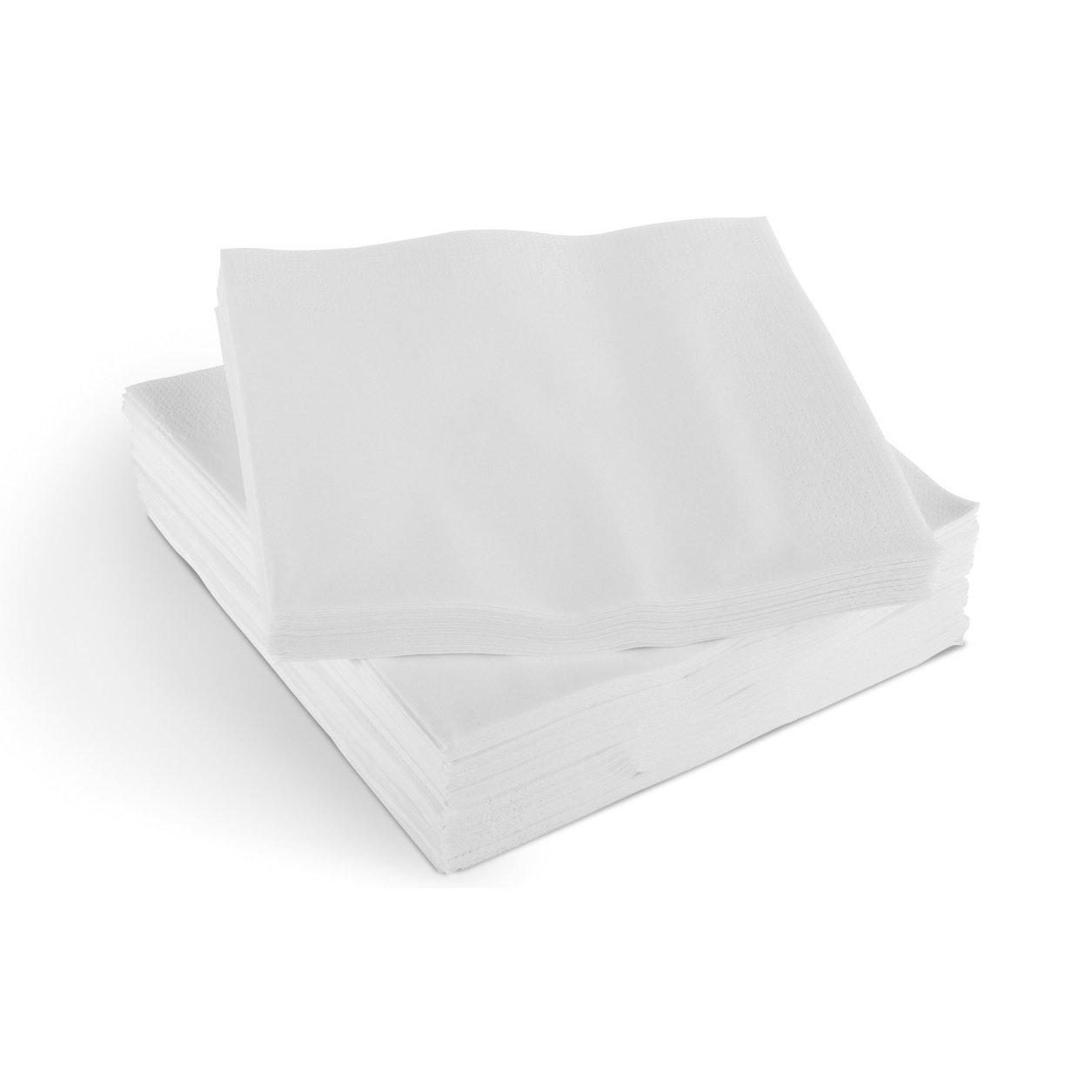 SafePro BNAP, 9''x9'' 1-Ply Beverage Cocktail Paper Napkins, White Disposable Tabletop Napkins, 4000-Piece Case