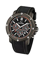 TW Steel Men's TS4 Titanium Watch with Black Silicone Band