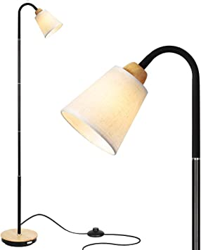 Haitral Adjustable Task Floor Lamp Modern Standing Reading Lamp With 360 Adjustable Gooseneck Reading Light Lamp For Bedroom Office Living Room White Without Bulb Amazon Com Electronics