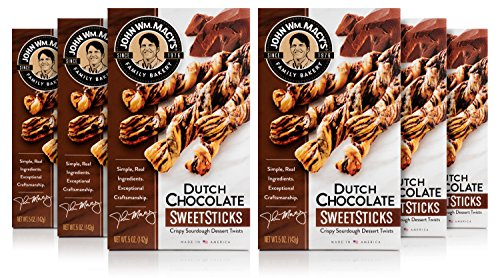 John Wm. Macy's SweetSticks, Dutch Chocolate, 5 Ounce Box, Pack of 6 (Cheese Dutch)