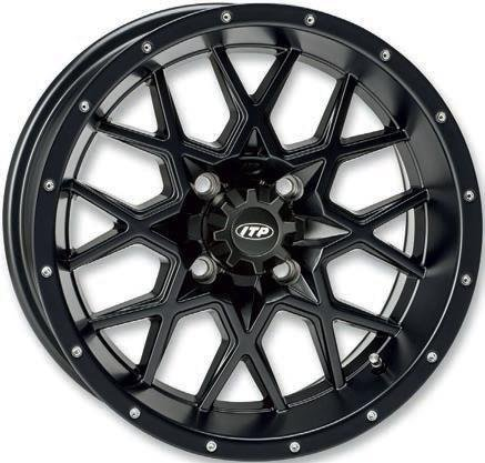 ITP Hurricane Matte Black ATV Wheel Front/Rear 16x7 4/110 - (5+2) [16RB110]