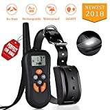 TinMiu Dog Training Collar 2018 Upgraded Collar 1650FT Remote 4 Working Modes with Tracking Light/Beep/Vibration/Shock 100% Waterproof and Rechargeable Shock Collar for Small Medium Large Dogs