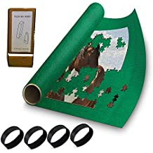 """Puzzle Buddy - Jigsaw Puzzle Roll Up Puzzle Mat - Felt Puzzle Storage Mat Comes with a Puzzle Box Stand - 100% Made in the USA (72"""" x 48"""") - Fits up to 5000 pieces"""