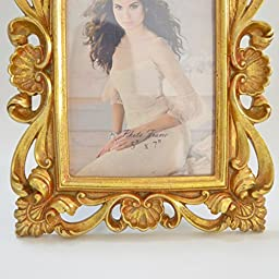 Giftgarden 5 by 7 -Inch Vintage Picture Frame Gold for Photo 5x7